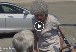 Jay Leno races Granny in Tesla