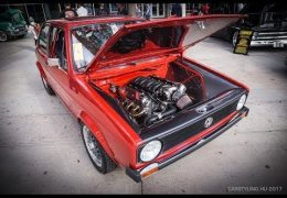 LS- swapped 1984 VW Rabbit at the SEMA Show.