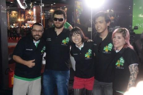 Nelson e Thais (Inside Xbox) com Chief do Xbox MIL GRAU!