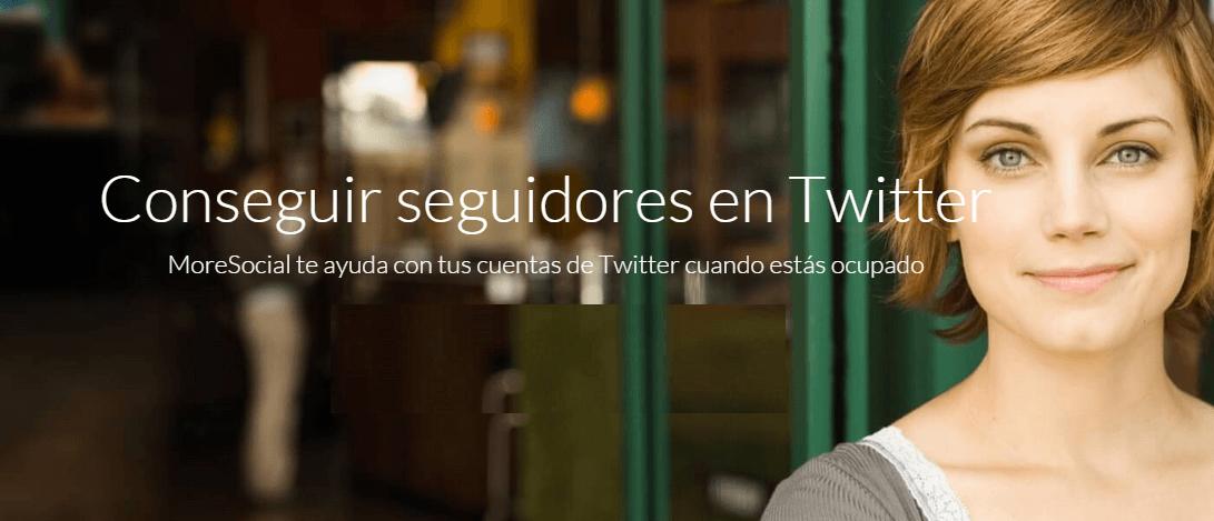 MoreSocial - Conseguir seguidores en Twitter