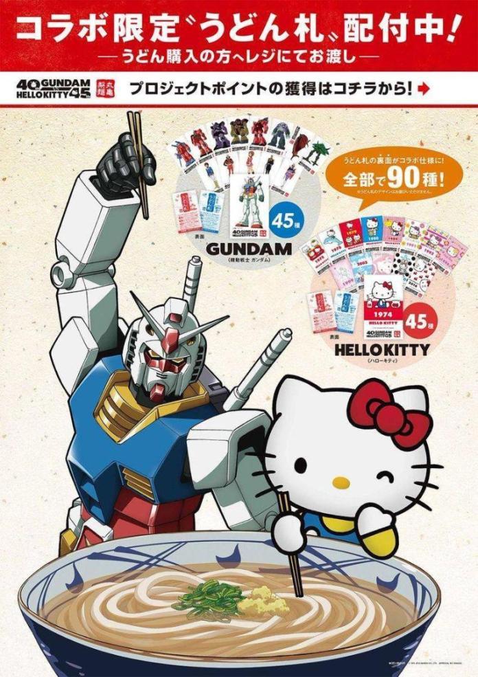 Hello Kitty y 'Mobile Suit Gundam' se enfrentan en evento crossover 2