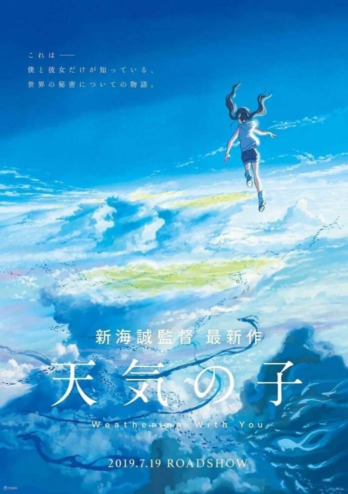 Tenki no Ko de Makoto Shinkai revela teaser 3