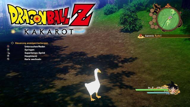 dragon ball z kakarot untitled goose game