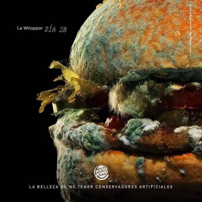 Hamburguesa podrida: La nueva publicidad de Burger King 1