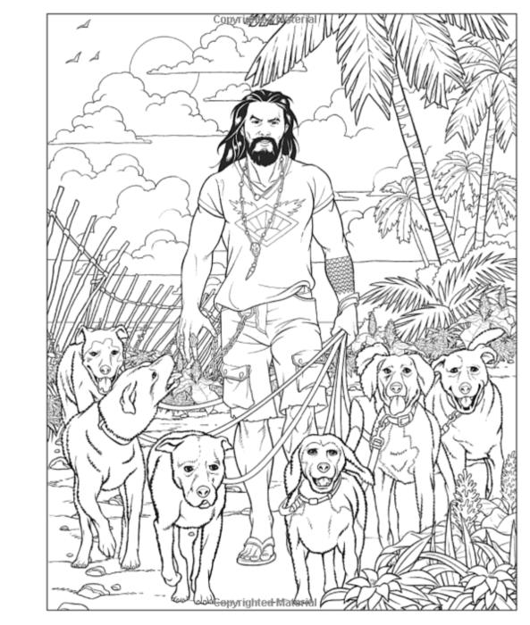 Libérate del estrés con el libro de colorear de Jason Momoa 1