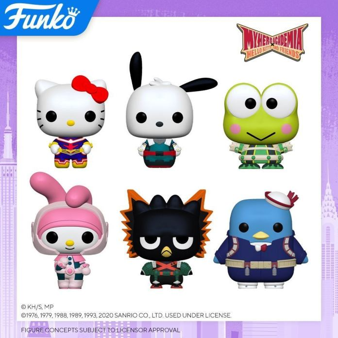 my hero academia hello kitty funko pop