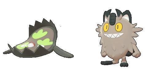 Meowth & Stunfisk (Pokémon Galar)