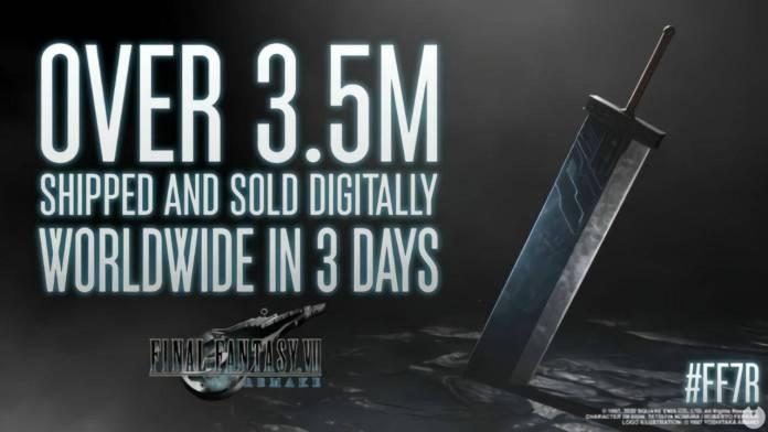 final fantasy vii remake ventas en 3 días