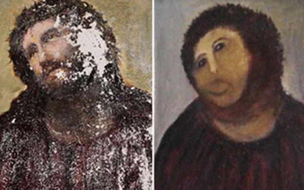 """""""Inmaculada"""", la pintura de Murillo (1678) arruinada por un restaurador amateur 2"""