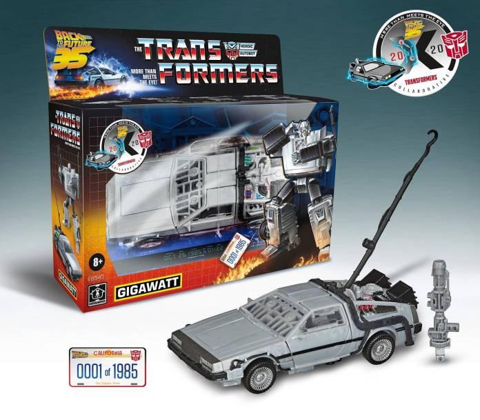 Robot DeLorean: El resultado del nuevo crossover Transformers x Back To The Future 2