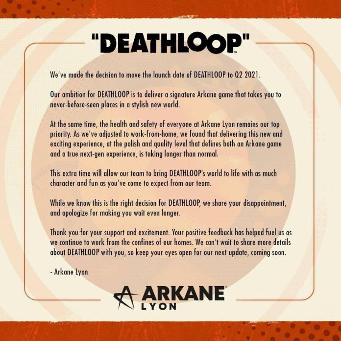 Deathloop se retrasa hasta el 2021 1