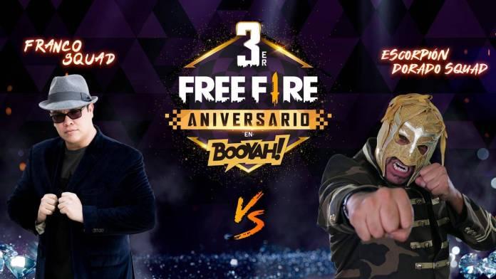 FreeFire celebrando el tercer aniversario. 1