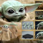 Ilustración que representa algunas de las nuevas características de Grogu (Baby Yoda) en lo que pretende ser la figura más ambiciosa del personaje hasta el momento.
