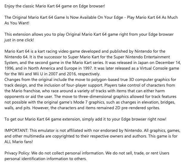 Mario Kart Descripción
