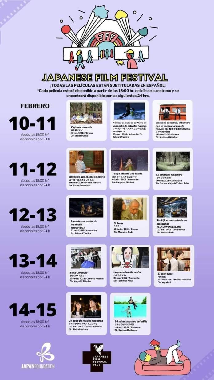 Festival Cine Japonés Cartelera