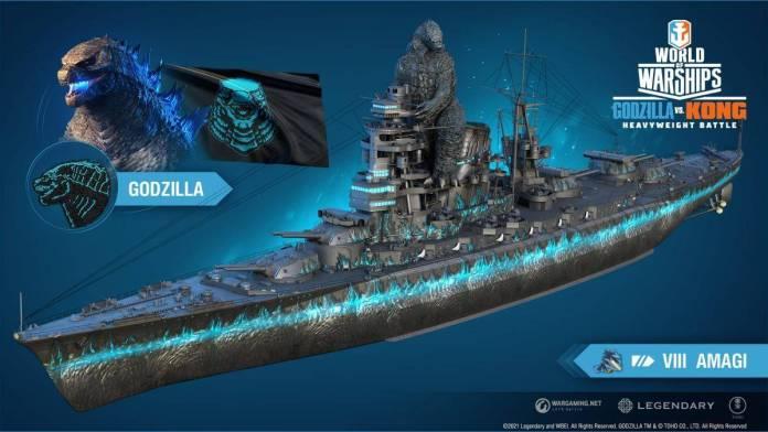 Godzilla vs Kong, World of Warships
