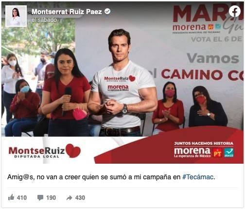 Política Mexicana utiliza imagen de Henry Cavill en campaña 1