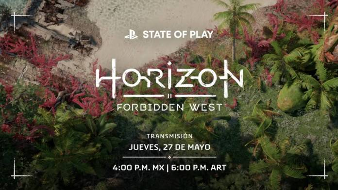Horizon Forbiden West nuevo State of Play el día jueves 27 de Mayo