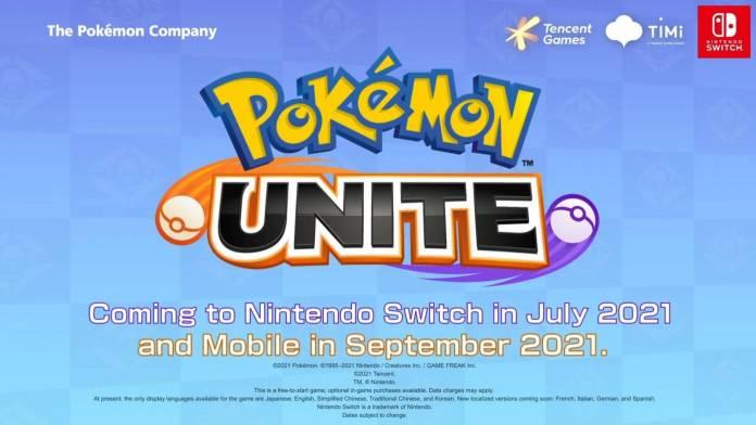 Pokémon Unite el MOBA desarrollado por Tencent Games llegará a Nintendo Switch en Julio y para smartphones en Septiembre.
