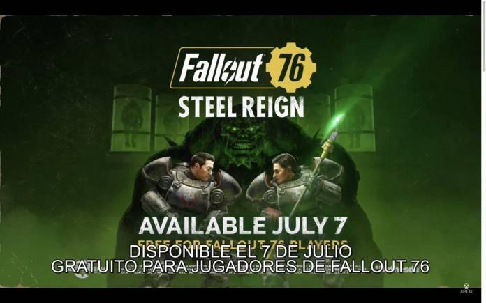 E3 2021: Fallout 76 recibirá actualización Steel Reign 2
