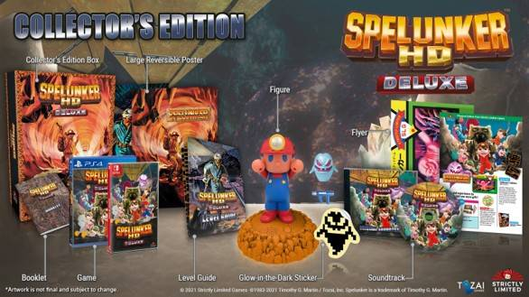 Stricly Limited presenta Spelunker HD Deluxe (Nintendo Switch, PlayStation 4) 4