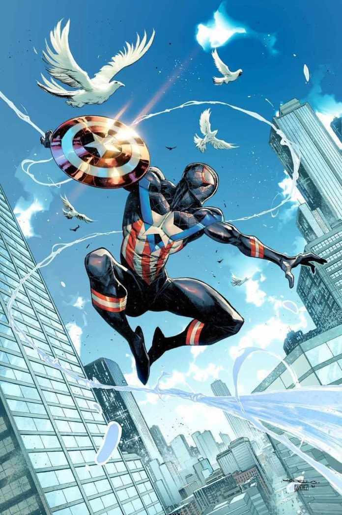 Spider-Man convierte en el nuevo Capitán América en la portada de su mas reciente cómic 1
