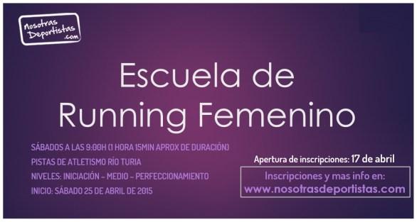 Cartel Escuela de Running Femenino