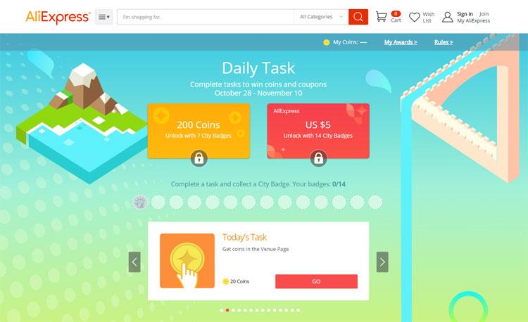 Codzienne zadania czyli Daily Task AliExpress - nospoon.pl