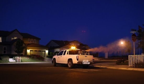 Spray Truck in Brentwood, California
