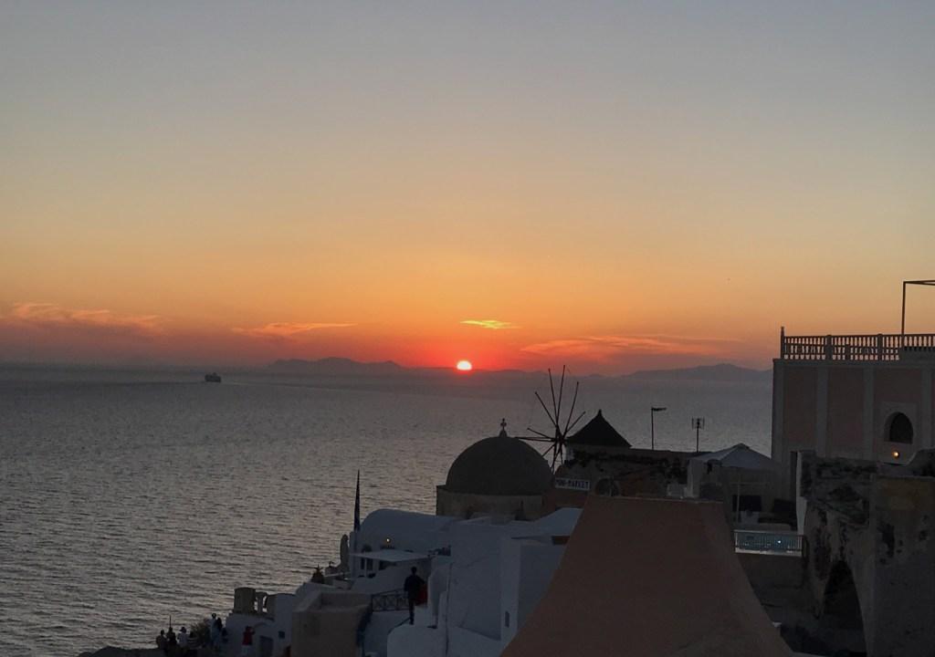 Por do Sol Santorini O que fazer Oia