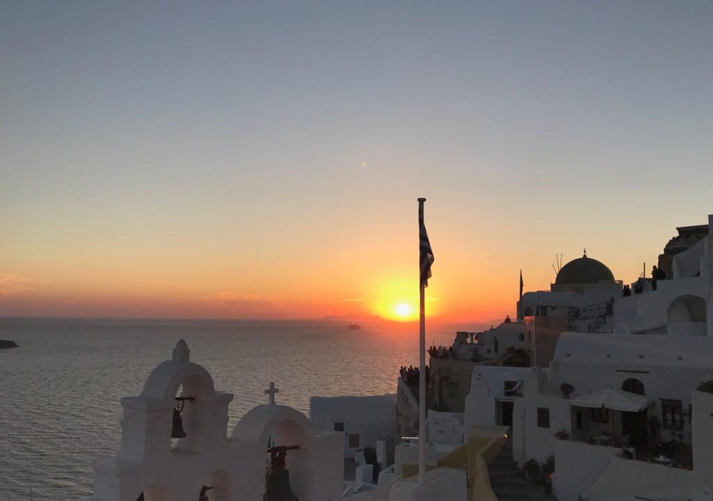 Por do Sol Oia Santorini O que fazer