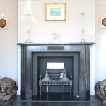 Large Antique Early 19th Century Georgian Black Marble Fireplace Surround Nostalgia