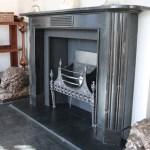 Large Antique Early 19th Century Georgian Black Marble Fireplace Surround Nostalgia