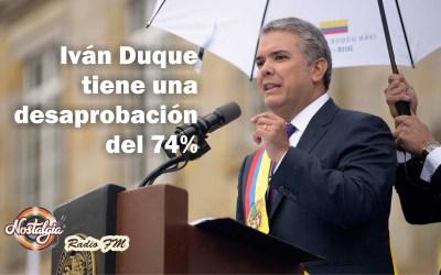 EN COLOMBIA…100 PRIMEROS DÍAS DE DUQUE, IMAGEN DESAPROBADA EN UN 74%