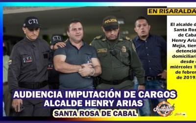 EN SANTA ROSA DE CABAL…ALCALDE HENRY ARIAS CON DETENCIÓN DOMICILIARIA
