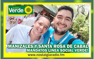 MANIZALES Y SANTA ROSA DE CABAL ALCALDES VERDES… ALCALDES DEL CAMBIO