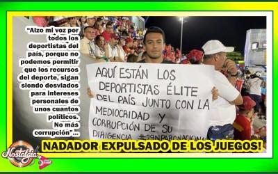 NADADOR EXPULSADO DE JUEGOS NACIONALES…APOYA EL PARO!