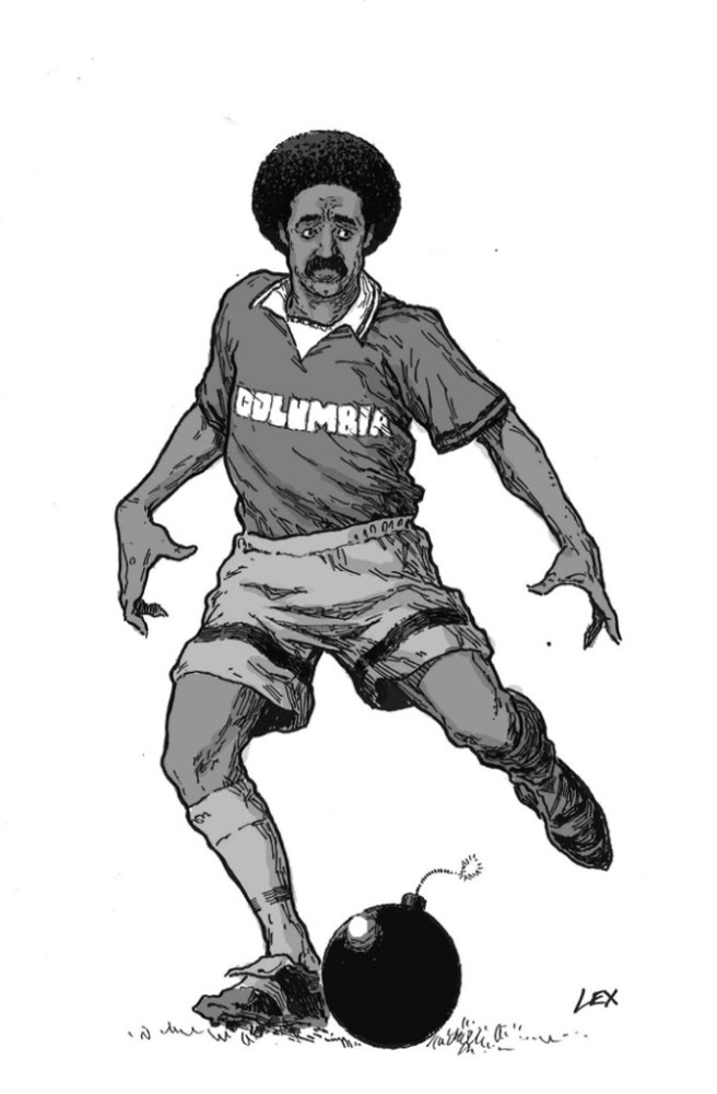 Columbian Football cartoon