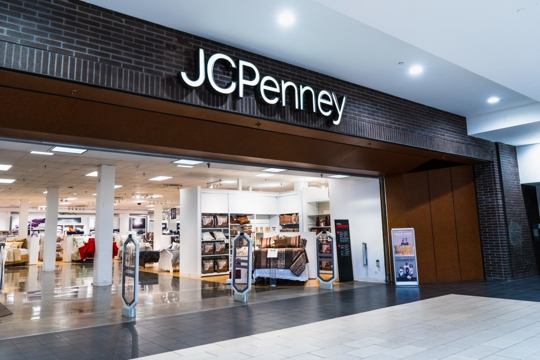 August 14, 2019 San Jose / CA / USA - JCPenney department store located in a mall in South San Francisco bay area