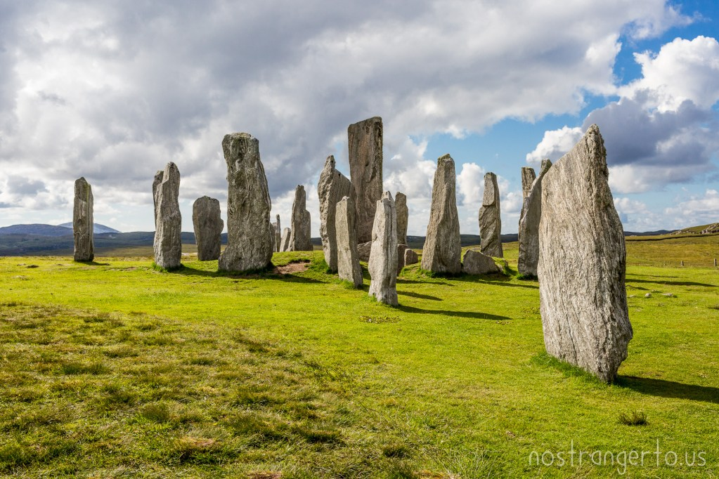 Callanish Stones stand tall on the Isle of Lewis