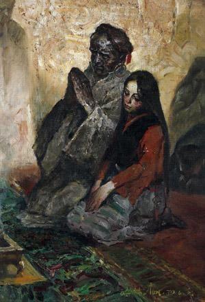 Cheng Conglin, prayers, huile sur toile, 76x58cm, 1979