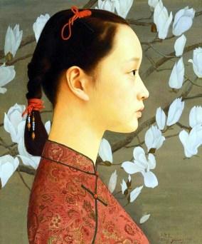 Portrait, huile sur toile, 60x50 cm, 2000