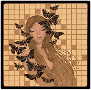 Audrey Kawasaki papillon