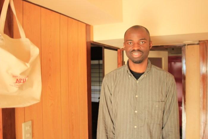 別府でホストしてくれたナイジェリア人夫婦の旦那マイケルさん。
