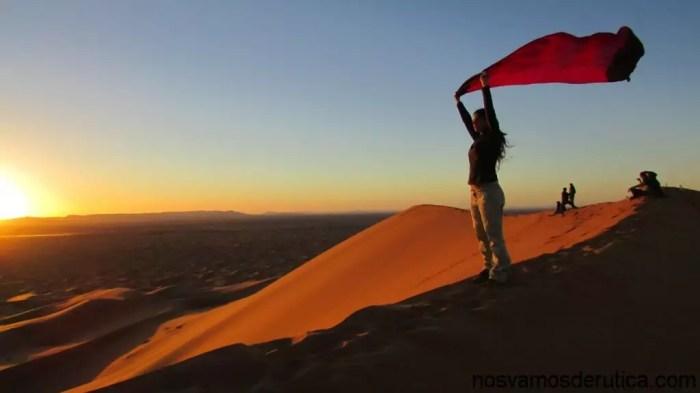 Atardecer desde la gran duna