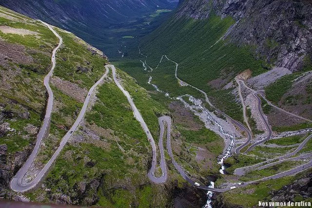 La sinuosa carretera de los dioses nórdicos (Noruega)