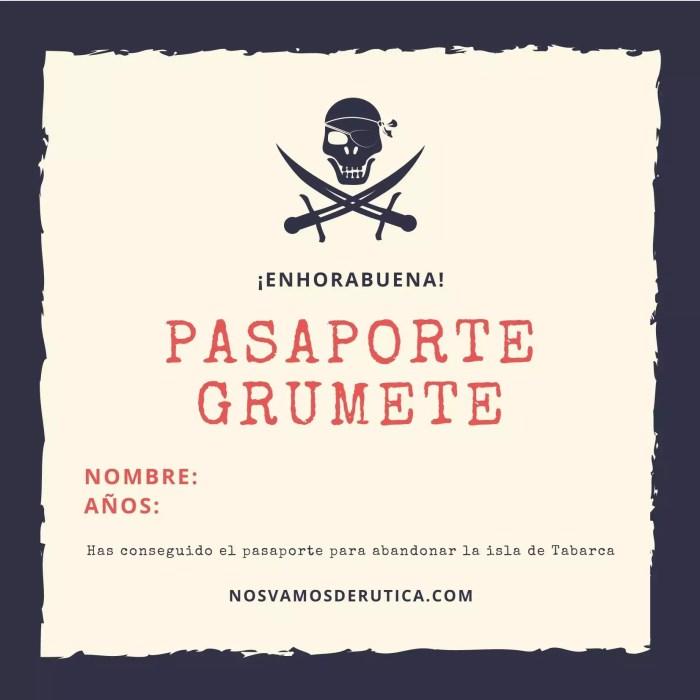 Pasaporte - Busqueda del tesoro en Tabarca