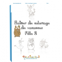 cahier coloriage fille
