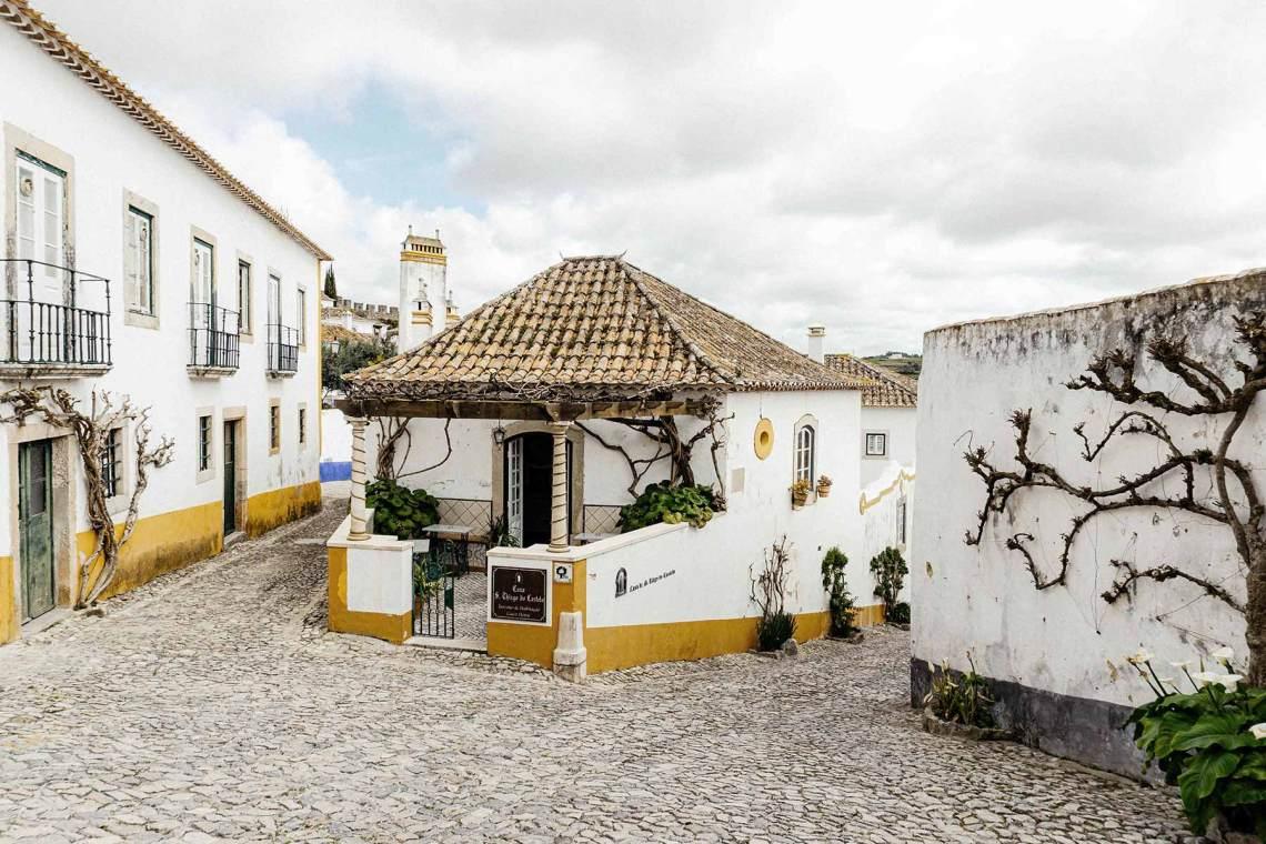 Casas de colores de Óbidos (Portugal)