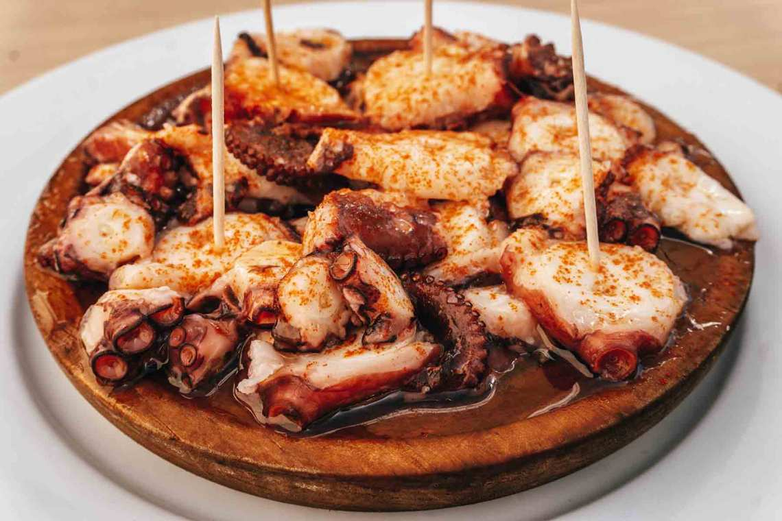 Gastronomía gallega en Aldán